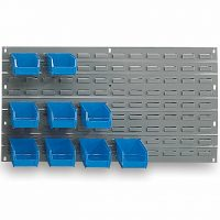 louvered panels and bin