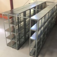 :  Slotted Angle Custom Sized with GI Sheet Decking